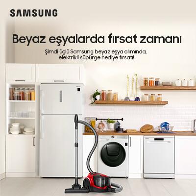 Samsung Beyaz Eşya İkili Alımlarda Elektirikli Süpürge Hediye Kampanyası