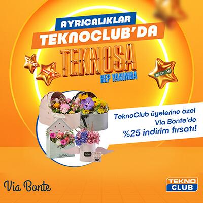 TeknoClub Üyelerimize Özel  Via Bonte Tüm Ürünlerde %25 İndirim Ayrıcalığı