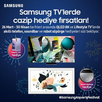 Samsung TV'lerde Cazip Hediye Fırsatları Kampanyası