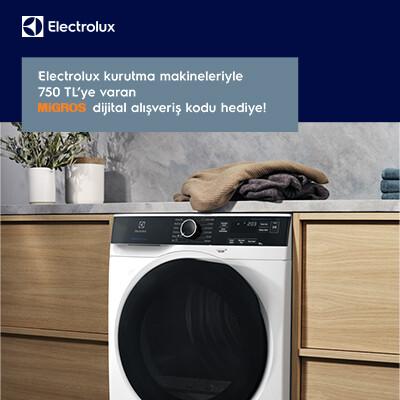 Electrolux Kurutma Makinelerine 750 TL'ye Varan Migros Dijital Alışveriş Kodu