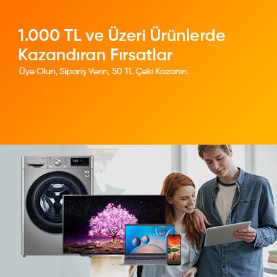 1000TL Üzeri Alışveriş Yapın İndirim Çeki Kazanın