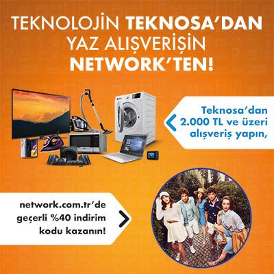 Teknosa Müşterilerine Özel network.com.tr'de Geçerli %40 İndirim Kampanyası