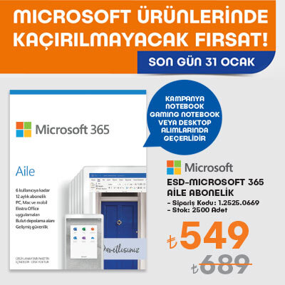 ESD-Microsoft 365 Aile Aboneliği Kampanyası
