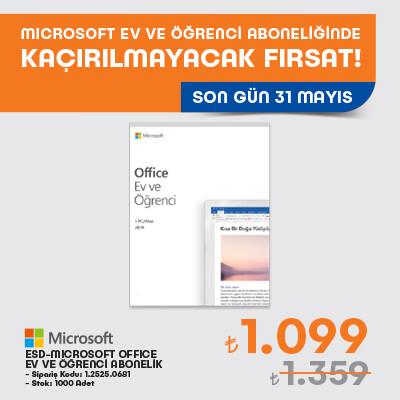 ESD-Microsoft Office 2019 Ev ve Öğrenci Paketi Kampanyası