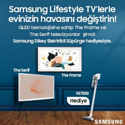 Samsung Lifestyle TV'lere Dikey Süpürge Hediye