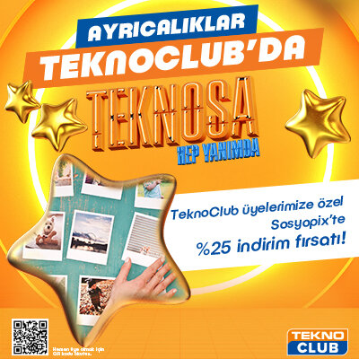 TeknoClub Üyelerimize Özel Sosyopix'de %25 İndirim Ayrıcalığı