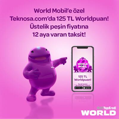 World Mobil 125TL Worldpuan Hediye Kampanyası