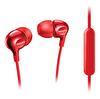 Philips She3705Rd/00 Mikrofonlu Kulakiçi Kulaklık - Kırmızı
