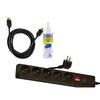 Goldmaster 3 Lü Set (Goldmaster Sp-411 5 Li A.K.Priz + Vivanco 42900 HDMI Kablo 1.5M + Sc-10 Lcd Temizleme Seti (100 Ml)