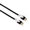 Hama 56586 HDMI Altın Uç Fabric  Siyah 1.5 M