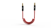 Swiss Charger SCC-10009 Spiral Ses Kablosu 1.5M