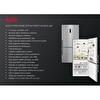 Aeg Rcb74711Nx No Frost Kombi Net465Lt Inox Buzdolabı