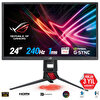 Asus Rog Strix 23,8 XG248Q Gaming, LED,Aura RGB, Freesync VE G-Sync Uyumlu, 1920X1080 1ms, 240Hz HDMI(V2.0) X2, DP,USB3.0X2 Monitör