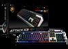 Cougar CGR-WM1MB-ATR Attack X3 RGB Gaming Klavye