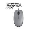 Logitech M110 Silent Kablolu Mid Gray USB Mouse 910-005490