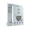 MediFash Aura-Gri TSE Belgeli Bakteri Filtreli 3 Katlı Telli Maske Takma Aparatlı Gri Yıkanabilir Maske