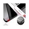 Dayanıklı Cam Ekran Koruma iPhone7 47 Inc 4D Premium Black