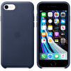 Apple iPhone SE 2. Nesil Gece Mavisi Deri Kılıf MXYN2ZM/A