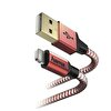 Hama 178299 Lıghtnıng Usb KabloReflectıve inç1.5M Kırmızı