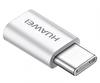 Huawei Type-C to Micro USB Beyaz Dönüştürücü