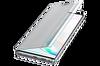Samsung Galaxy Note 10+ Clear View Kılıf - Gümüş Gri