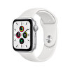 Apple Watch SE 44mm Silver Alüminyum Kasa ve Beyaz Spor Kordon MYDQ2TU/A