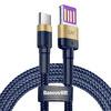 Baseus Cafule Special Edition  Type C  5A 40W Kablo Mavi Altın 1M