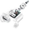 Cellularline CBRSMKIT15WMUSBW 15W Micro USB Araç Şarjı (Kablo+Adaptör)