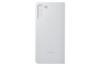 Samsung Galaxy S21  Akıllı Clear View Telefon Kılıfı Açık Gri