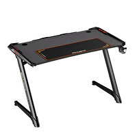 Adore GamingIntro AGT-120-QQ-1 RGB Oyuncu Masası Karbon Çelik Gövde Siyah