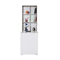 Adore CMU-206-LB-1 10 Raflı Kitaplıklı Çalışma Masası Latte Diamond Beyaz