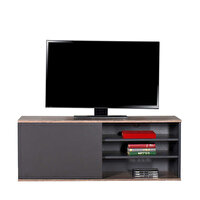 Adore Flat Line Plus TVC-510-LA-1 Kapaklı Üç Bölmeli Tv Sehpası Latte Antrasit