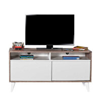 Adore Retro Slide TVR-320-LB-1 Tv Sehpası Latte Diamond Beyaz