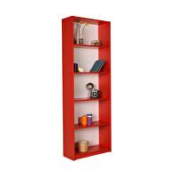 Adore Modern KTP-350-KK-1 5 Raflı Kitaplık Kırmızı