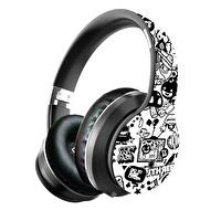 Preo My Sound MS56 Kablosuz Kulak Üstü Kulaklık Beyaz Grafiti