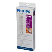 """Philips Spn3040C 900J 4""""Lü Akım Korumalı Priz"""