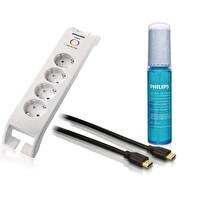 Philips 3 Lü Set (Philips Spn3040C A.K.Priz + Svc1111P/97 Ekran Temizleme 30Ml +Philips Swv5401H/10 HDMI Kablo 1.8M)