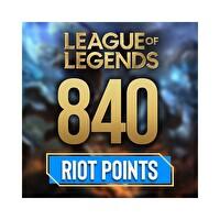 League Of Legends 840 Riot Points - 840 Rp