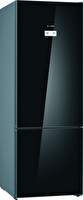 Bosch KGN56LBF0N Cam Glass Edition 559 Lt A++ Enerji Sınıfı Alttan Donduruculu Siyah No-Frost Soğutucu Buzdolabı