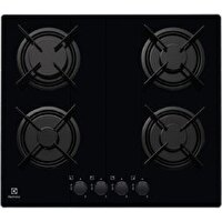 Electrolux EGT6242NVK Gazlı Cam Ankastre Ocak Siyah