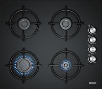 Bosch POP6C6B11O 4 Gözlü Çelik Tekli Izgara Doğalgazlı 60 Cm Siyah Cam Ankastre Ocak