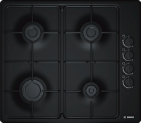 Bosch PBP6C6B80O  60 Cm 4 Gözlü Doğalgazlı Siyah Emaye Ankastre Ocak