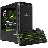 Casper Excalibur E600 Intel Core i5-10400 8 GB RAM 1TB HDD +120 SSD 8GB RX570 Win 10 Home Siyah Desktop