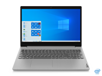"Lenovo IdeaPad 3 81WE008ETX Intel Core i3-1005G1 4GB 128GB SSD Integrated Intel UHD Graphics 15.6"" HD Platin Gri W10 Notebook"