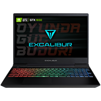 "Casper Excalibur G770 Intel 10.Nesil i7-1075 8GB RAM 1TB+128 SSD 4GB GTX1650 15.6"" Win 10 Home Gaming Notebook"