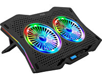 Inca INC-607 GMS Arrax II  2X RGB Fan 7 Kademe Gaming Notebook Soğutucu