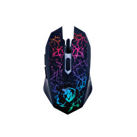 Preo My Game MG08 Kablolu Gaming Mouse + Mouse Pad Mavi