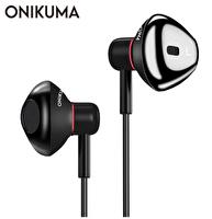 Onikuma A19 Kulakiçi Kulaklık 3,5 mm Siyah