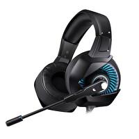 Onikuma K6 RGB Işık Heyecanlı Gaming Kulaklık Siyah/Mavi