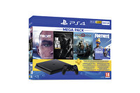 Sony PS4 500GB + God of War + Detroit: Become Human + The Last of Us Remastred + Fortnite + PS Plus 3 Ay Üyelik